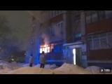 Пожар на Уфимской, 4. Видео очевидца. Пермь 3 февраля 2018