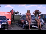 Car wash in a bikini contest for the best beauty in a swimsuit
