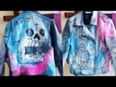 LIL PEEP Never Say Die Skull Leather Jacket | DIY 💛