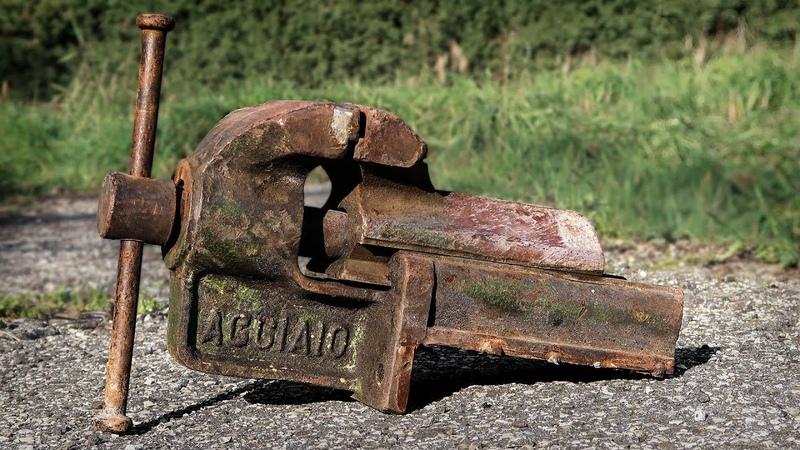 Реставрация тисков Vise Restoration Italian Steel Dovetail Style