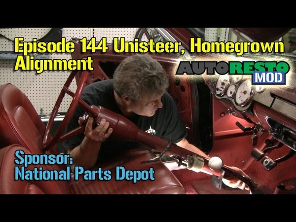 Unisteer rack and pinion column homemade alignment Mustang and Cougar Episode 144 Autorestomod