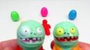 Funny Toys for Kids Zombie Brainz family cartoon PlayClayTV 3D printing heroes PVZ2