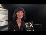 About to go live with Caitriona Balfe at LA Times