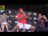 UFC 221 Romeros dance at open workout