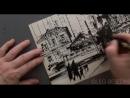 Городская фантазия , рисунок кистью (брашпен, скетч) © Беседин, Иркутск, ускорено (1 мин)