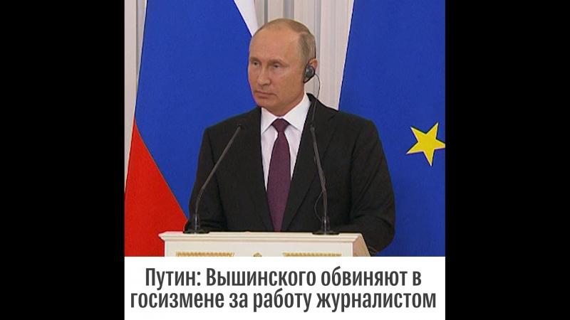 Путин о реакции журналистов из ЕС на задержание Вышинского