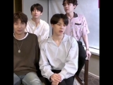 LOOK AT JIMINS FACIAL EXPRESSION CHANGED SO QUICKLY WHEN THEY MENTIONED FIRE JKJKSJS MY LUNGS -
