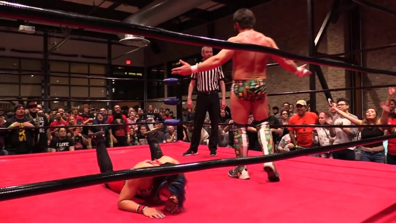 Joey Ryan vs. Mia Yim (Jade at TNA) in an Intergender Pro Wrestling Match from Wrestle Circus