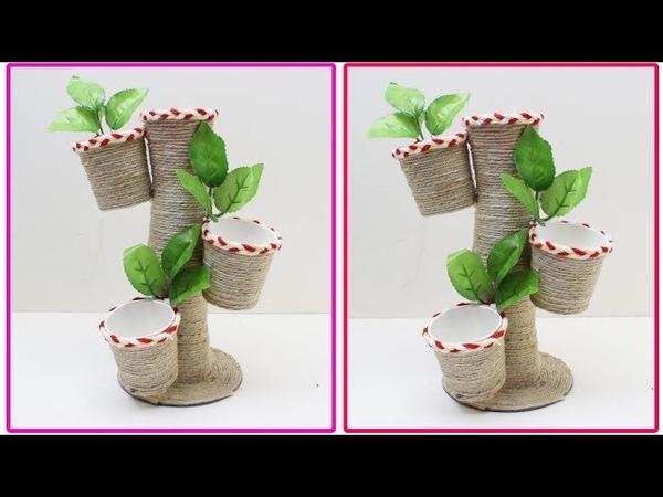 Jute Showpiece | Best reuse of Waste paper cup and jute Craft Idea | Handmade craft |