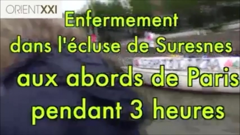 Paris Bateaux gazaouis escortés par la police