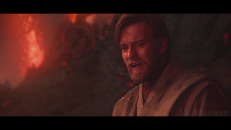 Энакин Скайуокер (Дарт Вейдер) против Оби-Вана Кеноби.