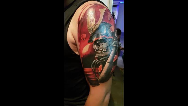 16-й СПб Фестиваль Татуировки. Третий день, один сеанс 8 часов. Tattoo Art Club. Тату-студия,салон.Екатеринбург.