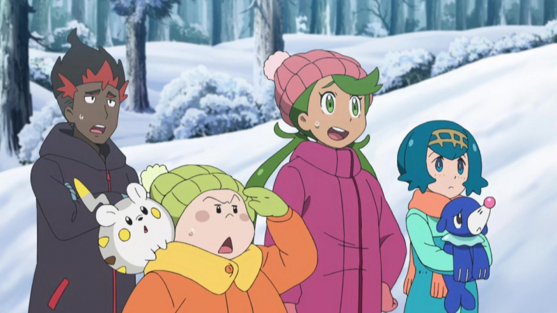 Pocket Monsters Sun Moon 60 Lilie tobimasu Pokézori Jump taikai RAW