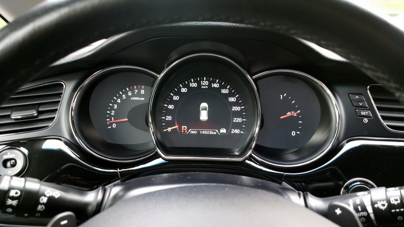Нерабочий штатный парктроник Kia Ceed JD Premium ч.1