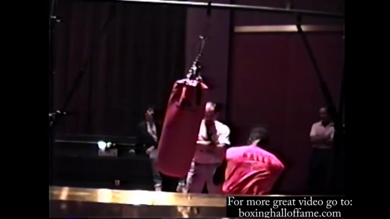 Mike Tyson Pounds Heavy Bag Part 2 Training Biggs