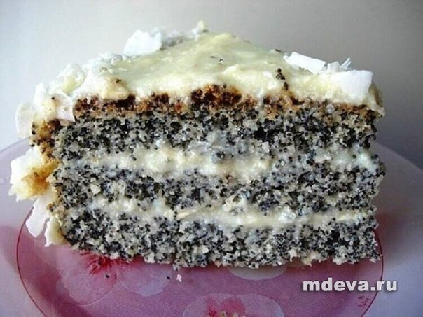 Маково-кокосовый пирог «Блаженство»