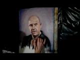 Портрет Вин Дизель работа в процессе холст/масло