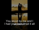 Because you loved me Celine Dion with lyrics