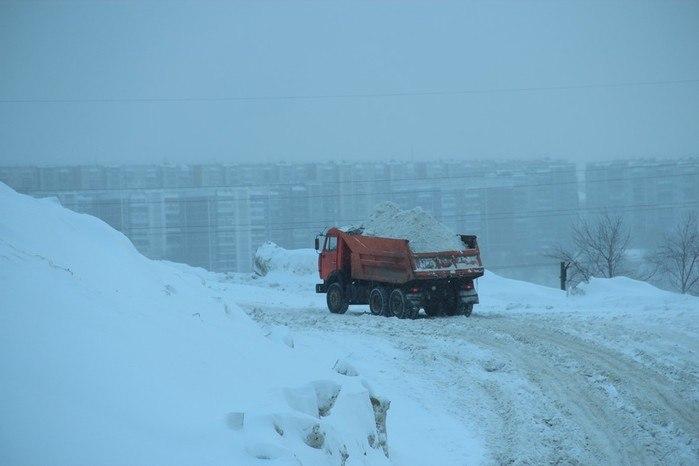 САХ вывез из Томска около 1700 тонн снега.