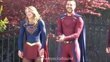 Melissa and Chris Supergirl on Instagram May 2 Chris and Melissa on set. Melwood are the cutest lil babes