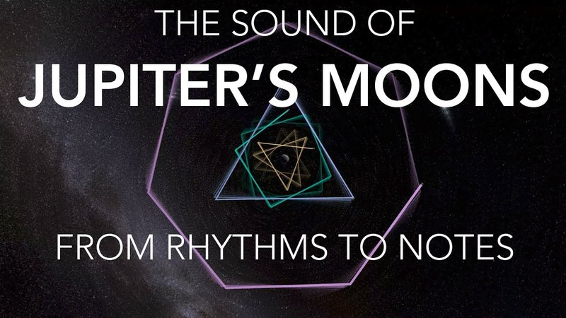 The Sound of Jupiter's Moons: From Rhythms to Notes