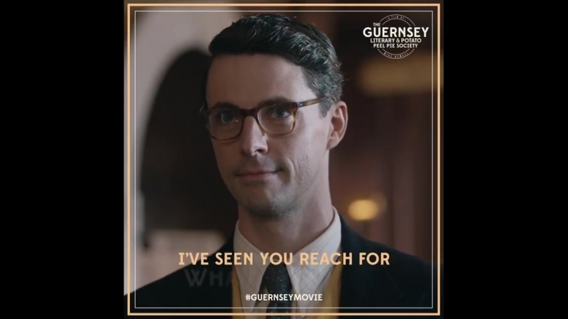 Everyone needs a friend like Sidney Stark MatthewGoode stars in GuernseyMovie as Juliet's editor and confidant