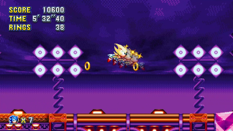 Sonic Mania - Alternative Final Boss (w/ all Chaos Emeralds)