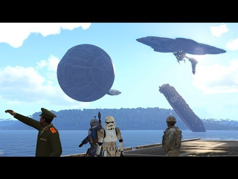 ArmA 3 - Launching Star Destroyers and Space Ships from an Aircraft Carrier