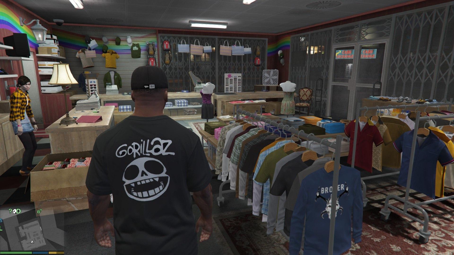 магазин одежды гта 5