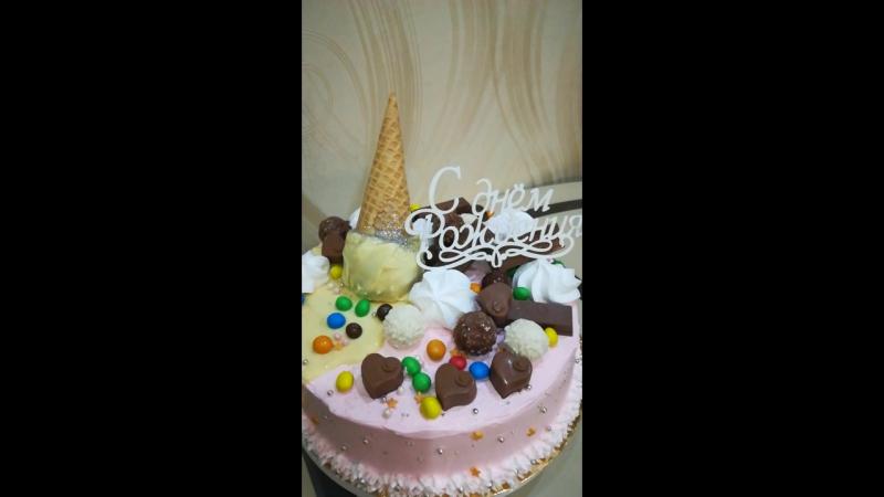 Тортик для моей принцессы🎉🎉🎉♥️♥️♥️🎆