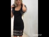 Чёрное платье с мехом реплика РР