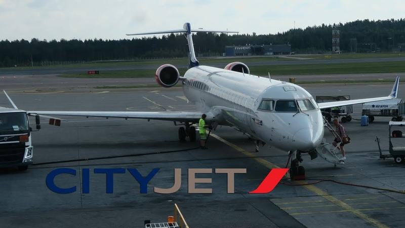 Перелет Хельсинки - Копенгаген на CRJ900 ак CityJet (SAS)