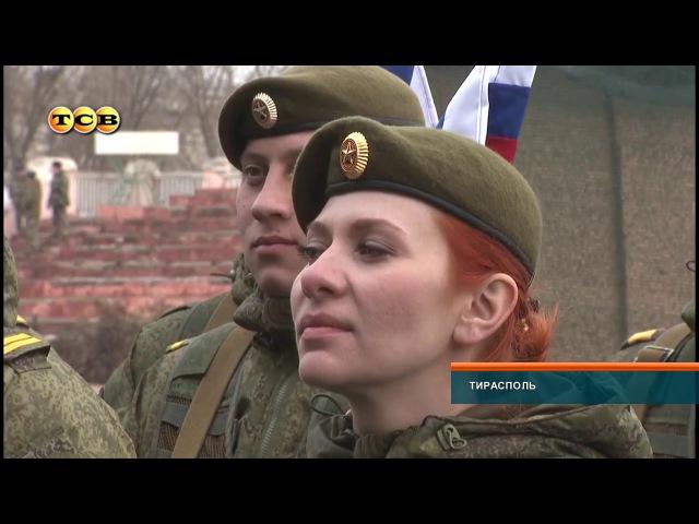 Праздник ко Дню защитника отечества на стадионе в Тирасполе