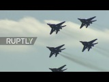 Russia Stunning air show marks 105 years of Russia's military aviation forces