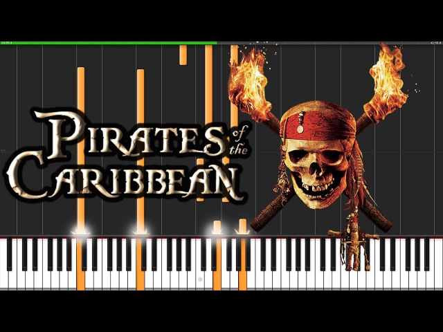 Pirates of the Caribbean Medley [Piano Tutorial] (Synthesia) David Kaylor