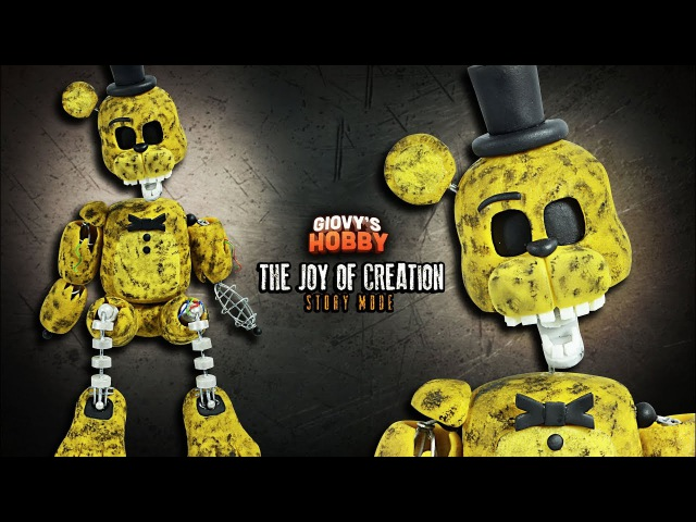 How to make IGNITED GOLDEN FREDDY ★ TJOC STORY MODE ➤ Polymer clay Tutorial ✔ Giovy Hobby