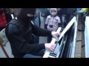 Incredible man plays piano on the street