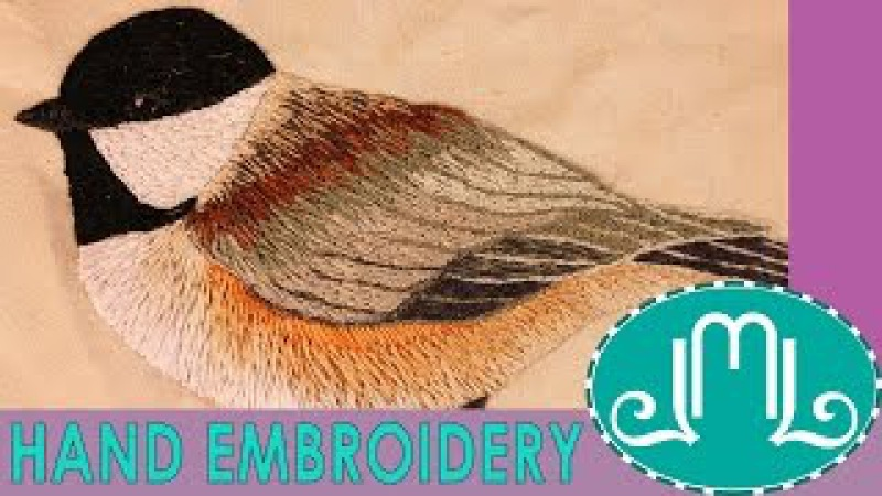 Hand Embroidery Chickadee Bird