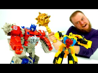 Трансформеры: Оптимус Прайм и Бамблби спасают Диму! Игры для мальчиков
