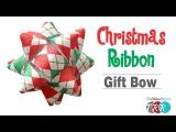 How to Make a Christmas Ribbon Gift Bow - TheRibbonRetreat.com
