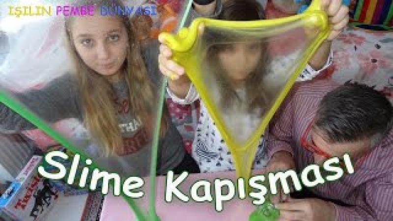 Slime Challenge Slime Kapışması Ben Kuzenim Babam Eğlenceli Çocuk Videosu Funny Kids Videos