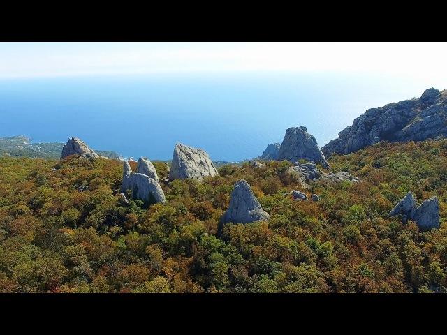 Храм Солнца (Тышлар). Гора Ильяс-Кая. Ласпи, Севастополь. Аэросъемка.