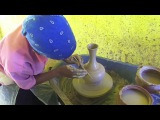 Travel to Ethiopia: Traditional Jewish Ethiopian (Falasha) Women make hand made pottery