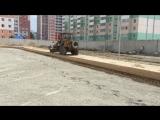Укрепление грунтов цементом спортивной площадки в строящейся школе микрорайон Дружный