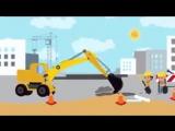 СБОРНИК 3 - СИНИЙ ТРАКТОР - Овощи Экскаватор Ракета Сутки - развивающие детские песни мультики1