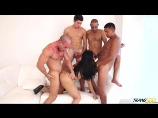Taiira Navarretes - First Gangbang shemale, anal, cum, sex