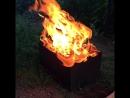 Медленная съемка огня.