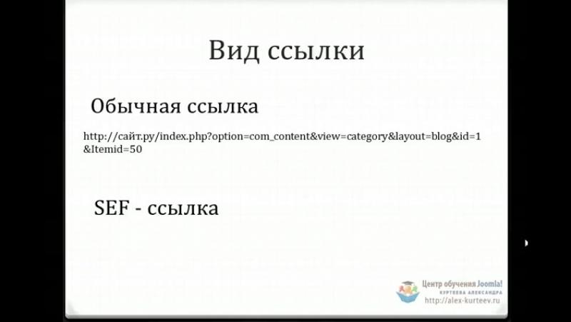 Joomla. Что такое SEF (Александр Куртеев)