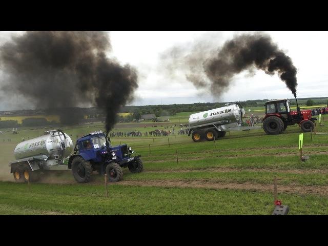 MTZ 80 1 vs MTZ 82 Tractor show Tractor drag race