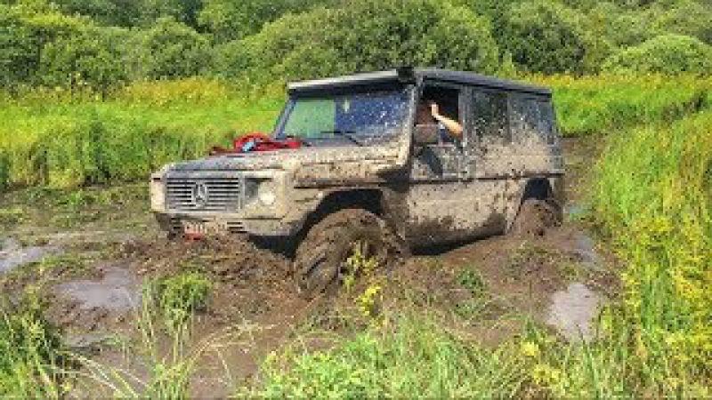 Топкое болото. Toyota Land Cruiser 80 41 Mercedes Gelandewagen 39 uaz hunter 37
